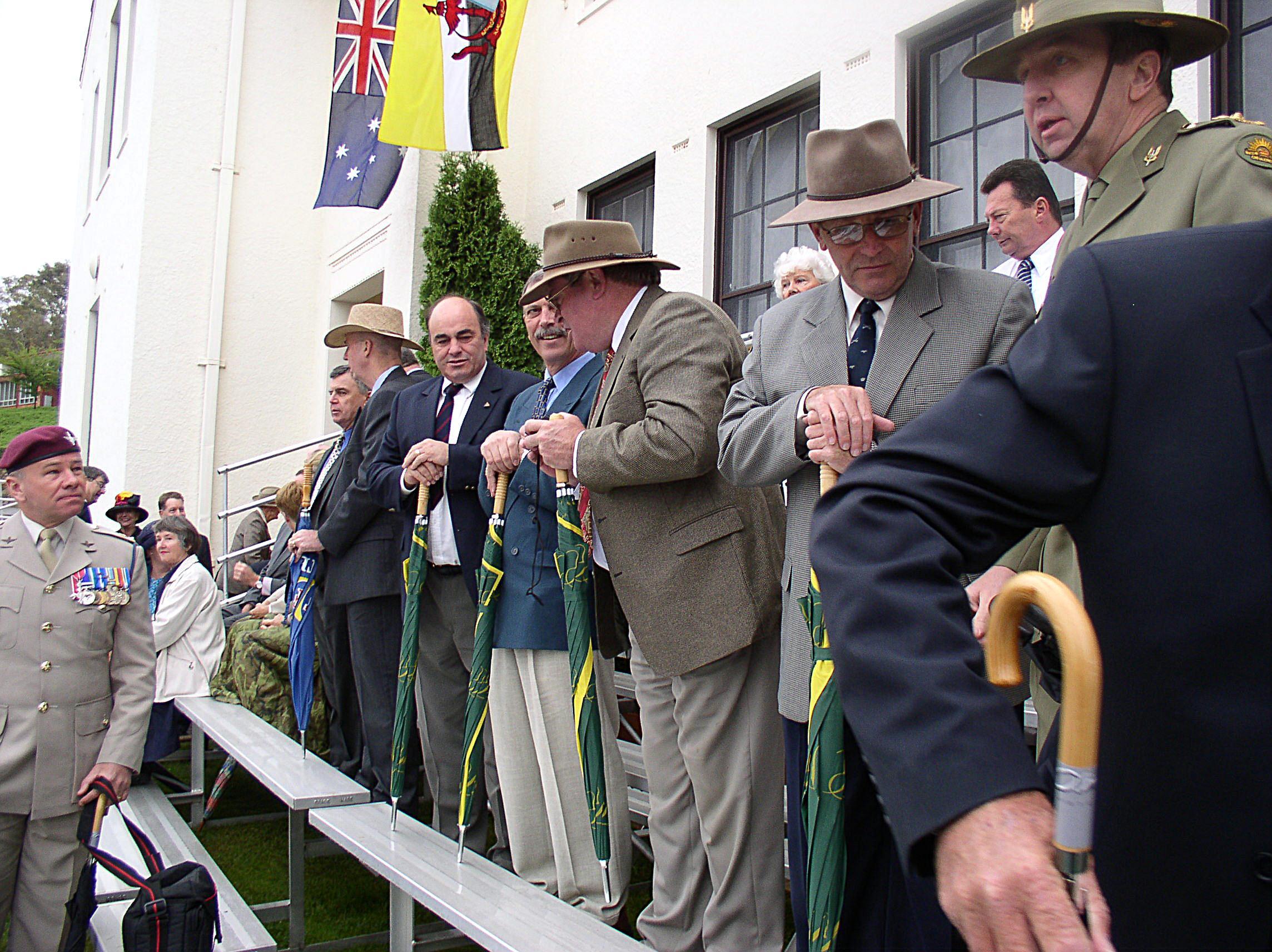 The Kiwi Brolley Brigade at Parade 2a